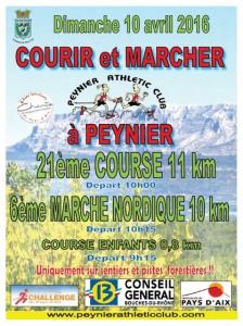 Courir à Peynier en Avril