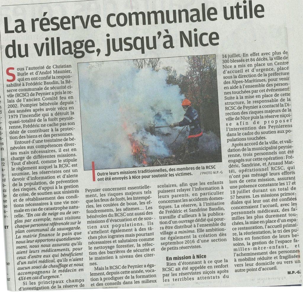 Réserve communale à Nice