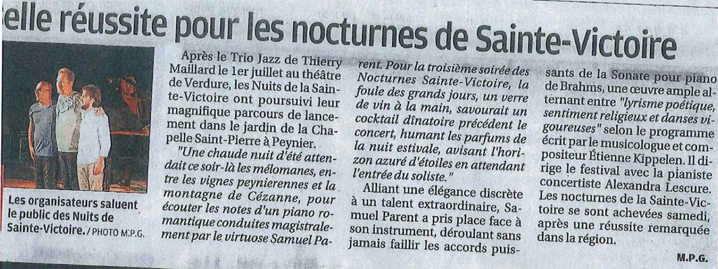 Les nocturnes de Sainte-Victoire