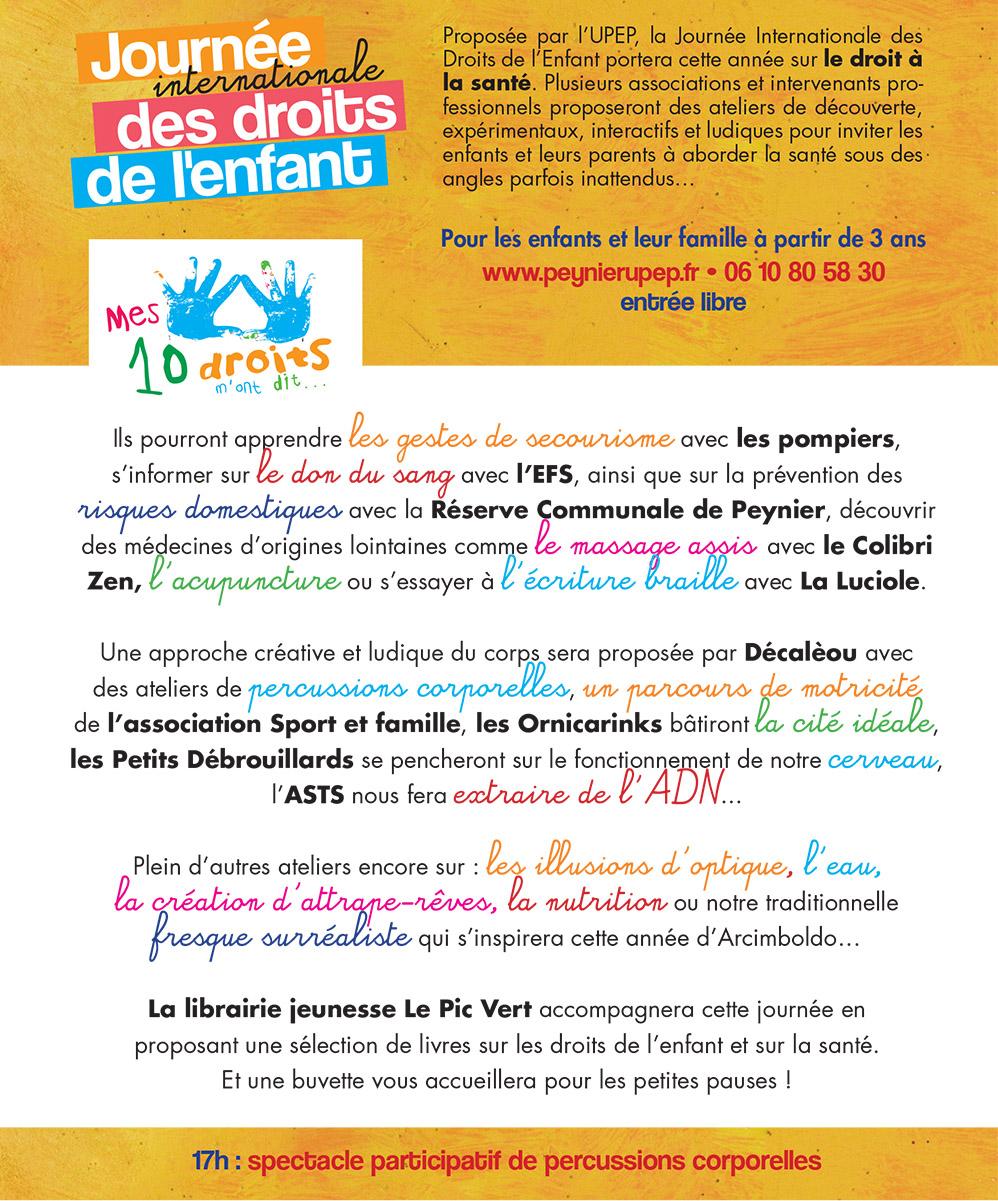 Exceptionnel Journée internationale des droits de l'enfant | Samedi 5 novembre  GM13