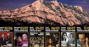 Festival les Nocturnes Sainte-Victoire | Du 30 juin au 11 juillet 2017
