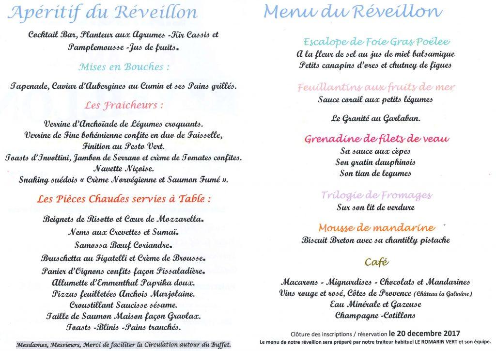 R veillon de la saint sylvestre dimanche 31 d cembre 2017 - Table reveillon saint sylvestre ...