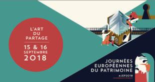 Journées européennes du patrimoine 2018 | 15 & 16 septembre 2018