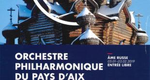 Concert orchestre philharmonique du Pays d'Aix | Vendredi 1er février 2018