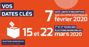 Elections municipales 2020 : inscrivez-vous sur les listes électorales !